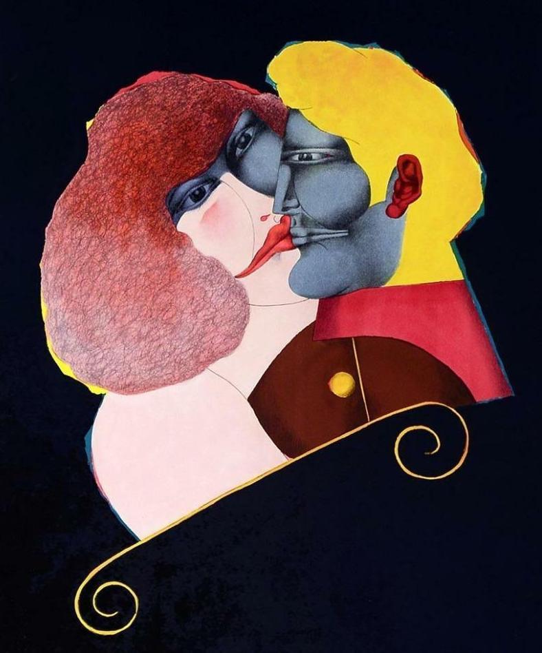 Richard Lindner, Kiss (1971)